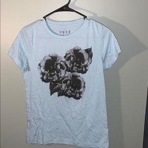 Light Blue Design T Shirt